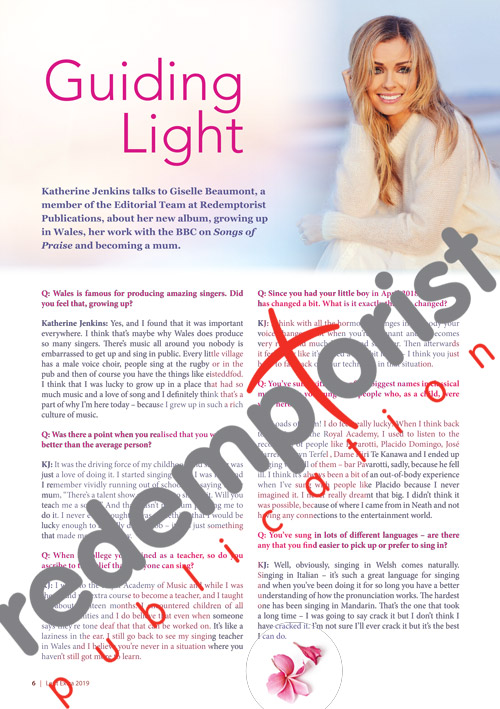 Katherine Jenkins interview page1