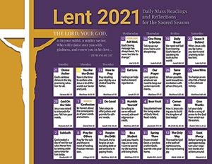 CATHOLIC LENTEN CALENDAR 2021